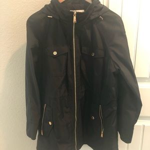 Michael Kors hooded rain coat